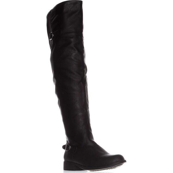 AR35 Adarra Knee-High Riding Boots, Black