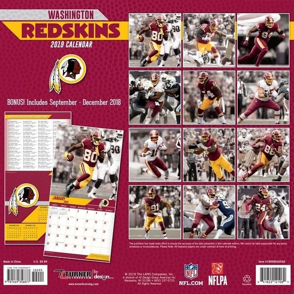 2019 Washington Redskins Calendar Washington Redskins by Turner Licensing /…