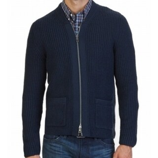 Nautica NEW Blue Mens Size Large L Knit Two-Pocket Full Zip Sweater