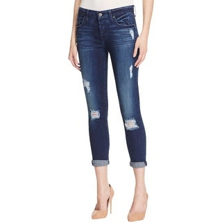 7 For All Mankind Womens Josefina Skinny Jeans Distressed Whisker Wash