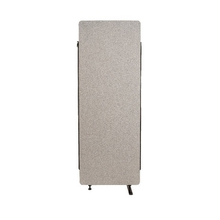 Offex Wall Partition Privacy Screen Freestanding Acoustic Room Divider, Expansion Panel for Office, Classroom - Misty Gray