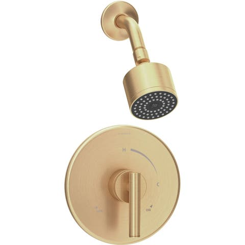 Symmons 3501-CYL-B-1.5-TRM Dia Shower Only Trim Package with 1.5 GPM Single Function Shower Head -