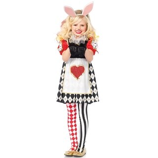 Leg Avenue Wonderland Rabbit Child Costume - Red/black