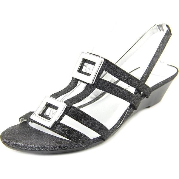 Karen Scott Serha Women Open-Toe Canvas Slingback Sandal