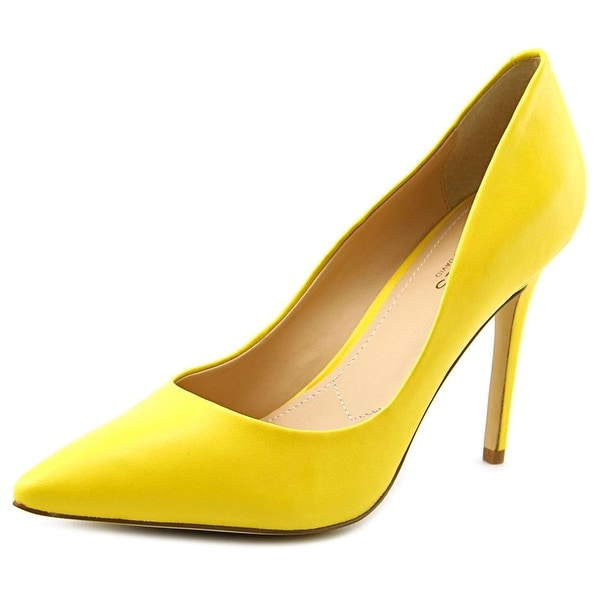 Charles By Charles David Pact Women  Pointed Toe Leather Yellow Heels