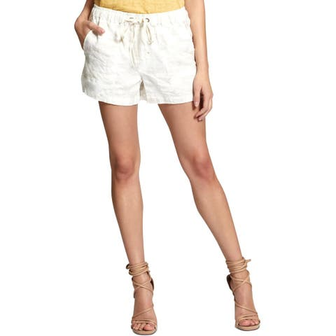 Sanctuary Womens Trooper Casual Shorts Linen Camouflage