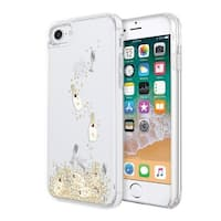 Kate Spade New York Liquid Glitter Case for iPhone 8 & iPhone 7 - Champagne - Clear/Gold