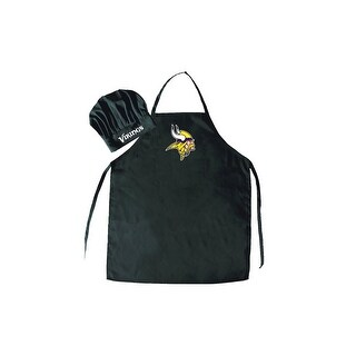 Minnesota Vikings NFL Barbecue Apron and Chef's Hat 2 pc Set Game Day Tailgating