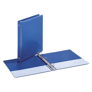 Cardinal EconomyValue 100% Recycled Fiber Non-Locking Round Ring Binder with Triggers, 1 Inch, Blue
