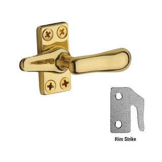 Baldwin 492 Solid Brass Heavy Duty Casement Fastener with Rim Strike (4 options available)
