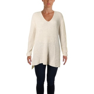 Two by Vince Camuto Womens Tunic Sweater Mohair Blend Metallic