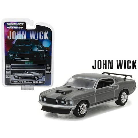 1969 Ford Mustang Boss 429 John Wick Movie (2014) Hollywood Series 18 1/64 Diecast Model Car by Greenlight