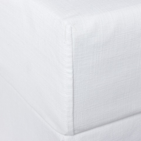 Percy White or Ivory Cotton Box Spring Cover