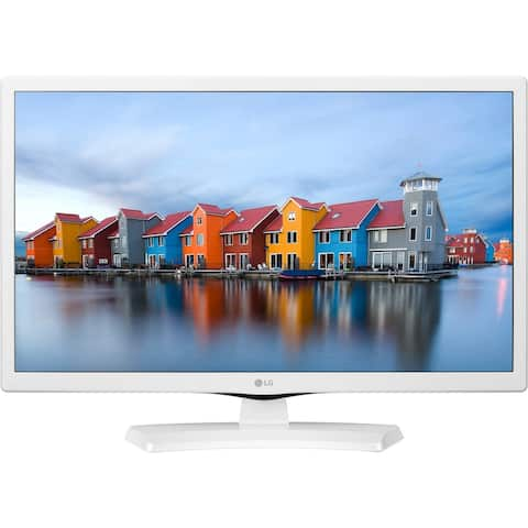 """LG 24LJ4540-WU 1366 x 768 24"""" LED TV,White - White - 13.6 x 21.9 x 2.1 Inches (Without Stand)"""