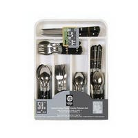 Gibson Casual Living 58 Piece Flatware Set in Black