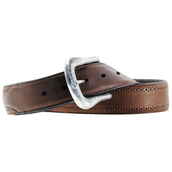 Ariat Western Belt Mens Leather Work Perforated Dark Copper