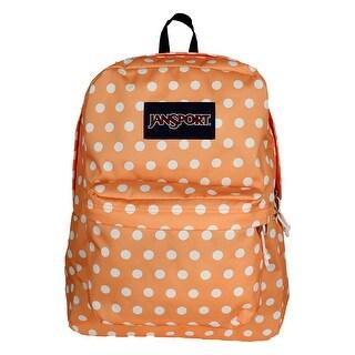 JanSport T501 SuperBreak Authentic School Backpack - OS (6J8 - Creamsicle Polka Dot)