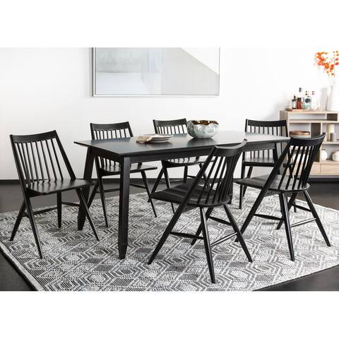 """SAFAVIEH Dining 19-inch Wren Black Spindle Dining Chair (Set of 2) - 21"""" x 21.9"""" x 33.7"""""""