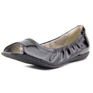 Trotters Morgan Women W Round Toe Patent Leather Black Ballet Flats