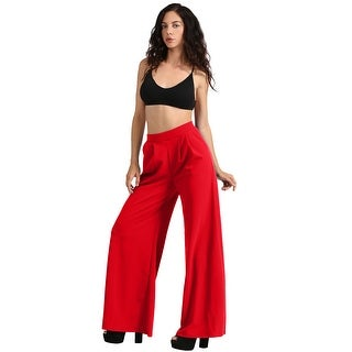 NE PEOPLE Womens Basic Dress Palazzo Pants with Pockets [NEWP43] (More options available)
