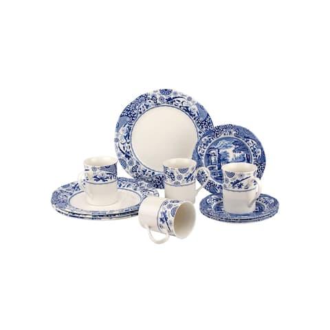 Spode Blue Italian Brocato 12 Piece Set