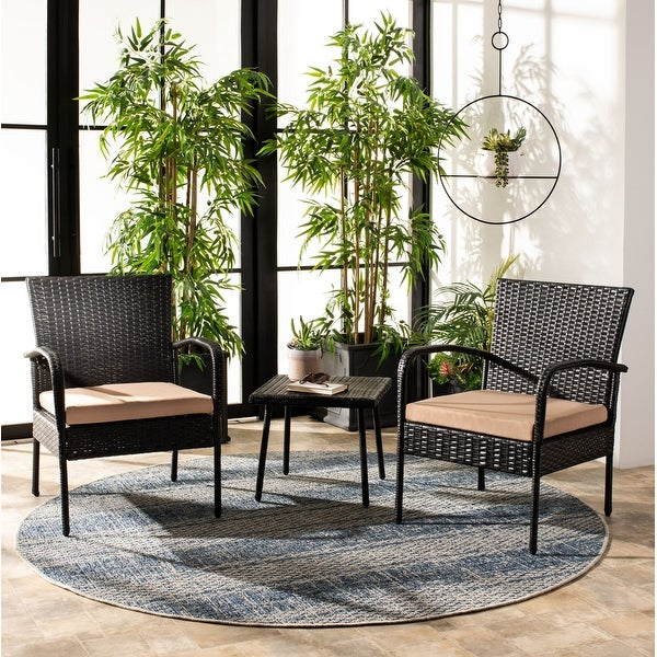 Shop Safavieh Outdoor Living Moore 3 Pc Lounge Set - On ... on Outdoor Living Sale id=45827