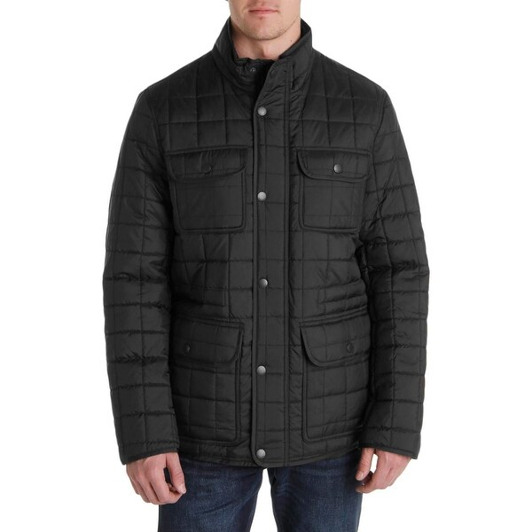 Tommy Hilfiger Mens Puffer Jacket Quilted Military