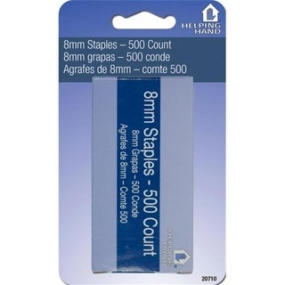 Helping Hands 20710 8 MM Staples 500 Count Pack Of 3