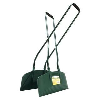 """Bosmere Leaf Grabber - Long Handled Lightweight Leaf and Yard Debris Rake - Plastic and Metal - 16"""" Wide"""