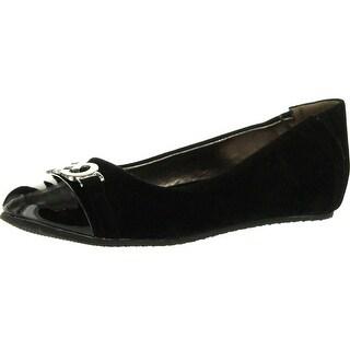 Cole Haan Girls Adler Bit Dress Casual Flats Shoes - Black