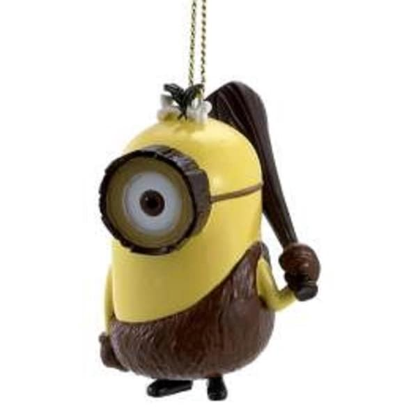 "2"" Despicable Me Yellow and Brown Crominion Decorative Christmas Ornament"