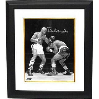 Rubin Hurricane Carter signed Vintage BW 16x20 Photo Custom Framed vertical deceased Beckett Hologr