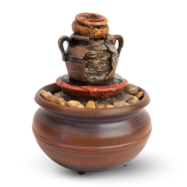 Cordless Tranquility Pottery Fountain