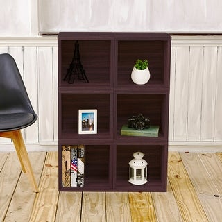 Link to Way Basics Eco Modular Storage Cube Cubby Organizer Display Shelf, Set of 6 Similar Items in Home Office Furniture
