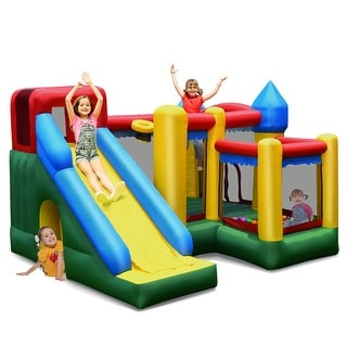 Link to Costway Mighty Inflatable Bounce House Castle Jumper Moonwalk Bouncer Similar Items in Outdoor Play