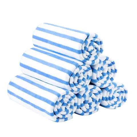 6-pack Cabana Striped Beach Towel Bath Towel