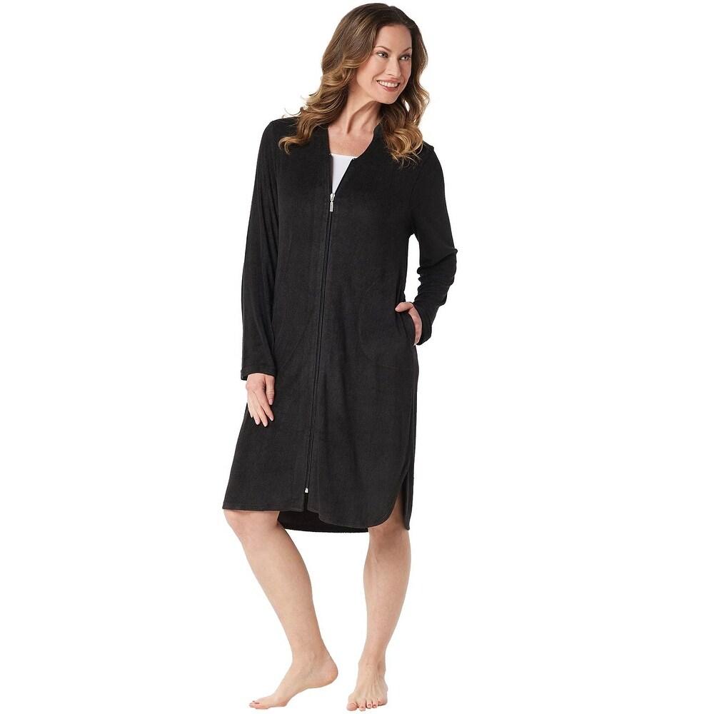 iQKA Short Robe Womens Plus Size Stripe Printed V Neck Soft Robe Satin Bathrobe 2019 Fashion Sleepwear Pajamas