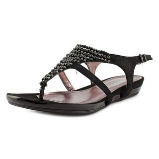 Kenneth Cole Reaction Lost The Way Women Open Toe Synthetic Black Thong Sandal