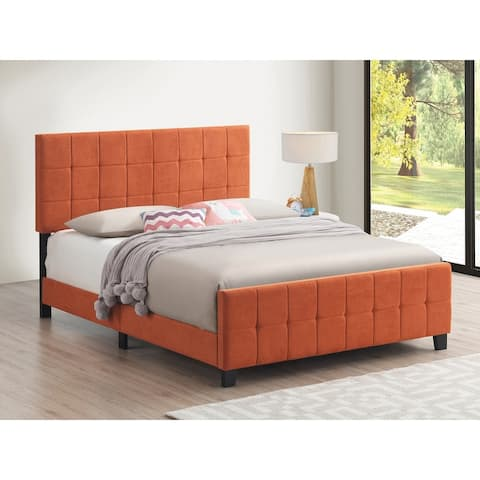 Carson Carrington Oesteralnaes Tufted Upholstered Panel Bed