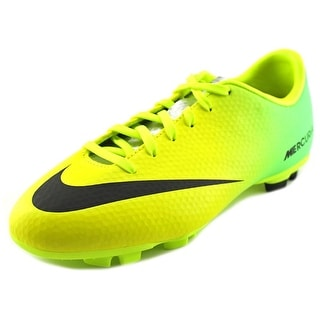 Nike Mercurial Victory IV FG Youth Round Toe Synthetic Yellow Cleats