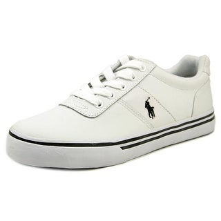 Polo Ralph Lauren Hanford Youth Round Toe Leather White Sneakers