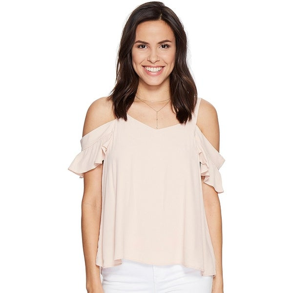 f6509081438 Shop Sanctuary Annie Cold Shoulder Top Blouse Cameo Pink - XL - Free  Shipping On Orders Over $45 - Overstock - 22972917