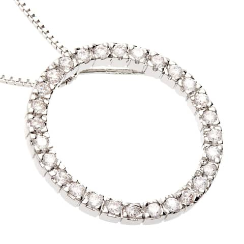 """Eternity Circle CZ Necklace by Simon Frank Designs (18"""" Chain)"""