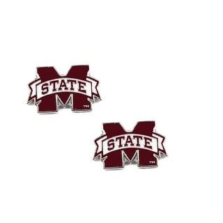 Mississippi State Bulldogs Post Stud Earring NCAA Charm Set