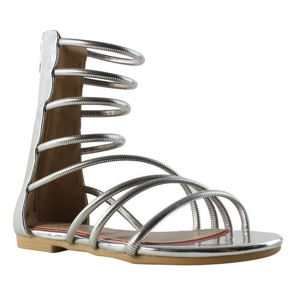 eabd24d91b2 Shop Luichiny Womens Betterlook Silver Gladiators Size 6 - On Sale - Free  Shipping On Orders Over  45 - Overstock - 23105135
