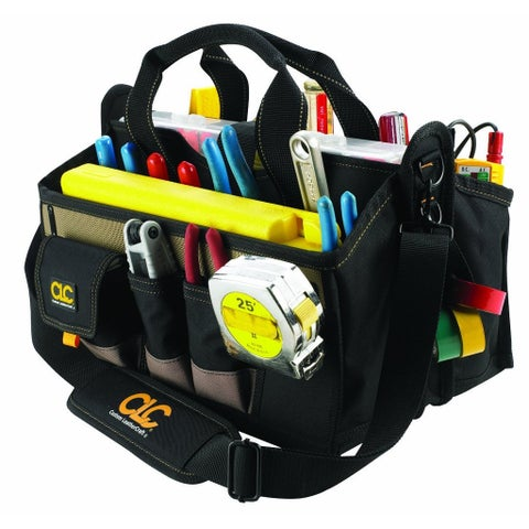 "CLC 1529 Center Tray Tool Bag, 16"", 16 Pockets"