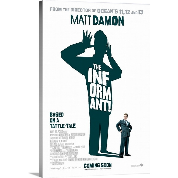 """""""The Informant! - Movie Poster - UK"""" Canvas Wall Art"""