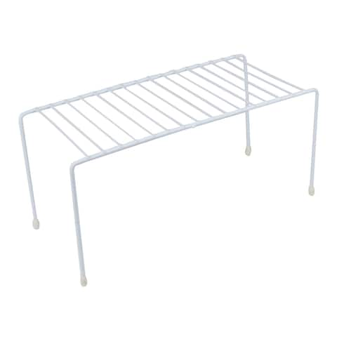 Evelots Kitchen Cabinet/Counter Shelf-Organizer-Double Space-Sturdy Metal