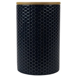 Link to Honeycomb Large Ceramic Canister, Navy Similar Items in Kitchen Storage