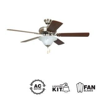 52 inch two light five blade ceiling fan light kit. Black Bedroom Furniture Sets. Home Design Ideas